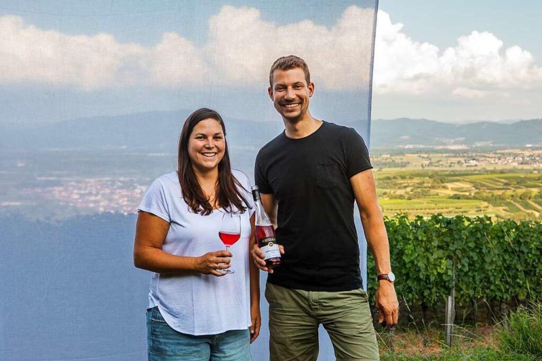 Ein Paar, eine gemeinsame Leidenschaft...nne und Markus Weishaar bauen Wein an.    Foto: Joss Andres