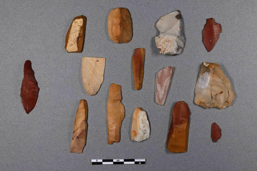 Fundstücke aus der Zeit des Gravettien...reilandsiedlung bei Müllheim-Feldberg.  | Foto: Erika Cappelletto (RPS)