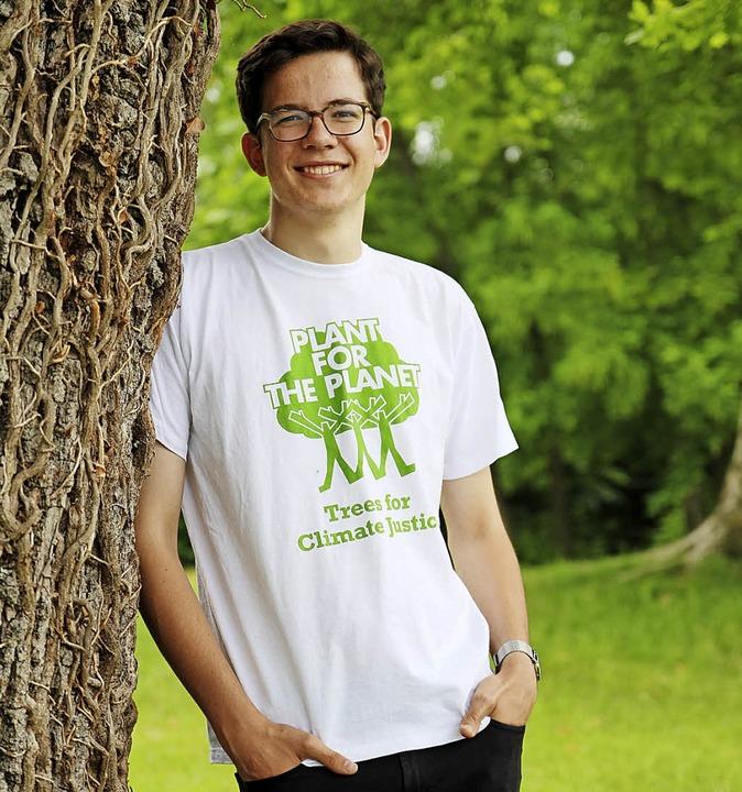 Bäume sind seit zwölf Jahren sein Thema: Felix Finkbeiner  | Foto:  privat