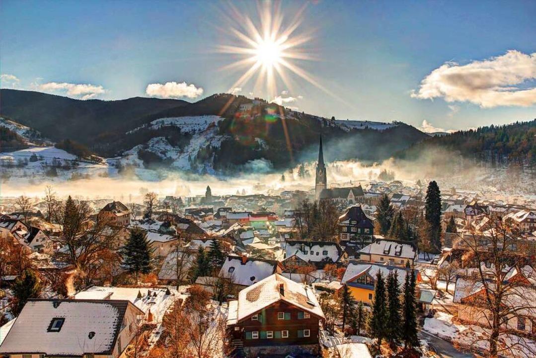 """1. Platz in der Kategorie """"Stadt...enstimmung über Schönau im Schwarzwald    Foto: Marco Wassmer"""