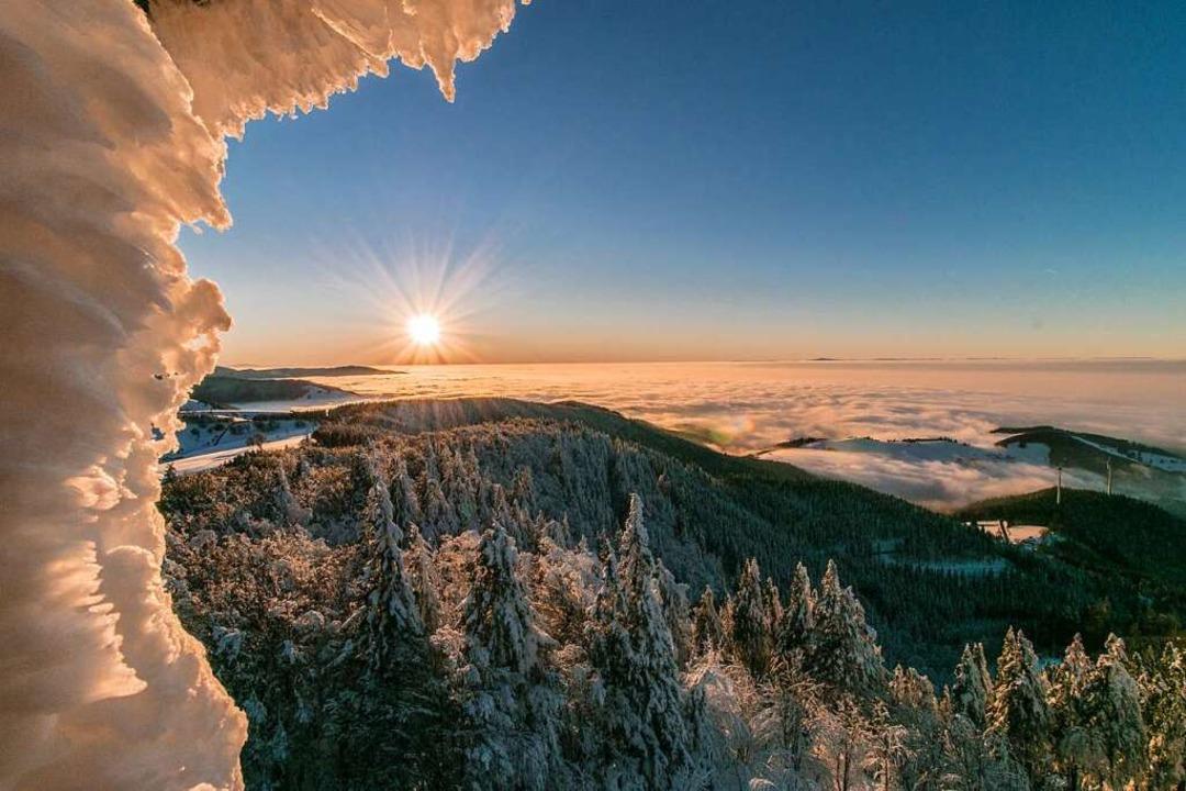 """3.  Platz in der Kategorie """"Land... Eiszeit im Schwarzwald (Schauinsland)    Foto: Fabian Hauser"""