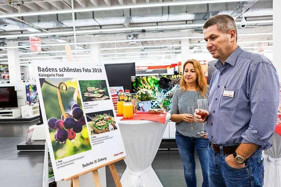 """Bei der Preisverleihung zum Wettbewerb """"Badens schönstes Foto"""" 2018 im Freiburger Media Markt wurden die Preisträger am Samstag ausgezeichnet. (Foto: Carlotta Huber)"""