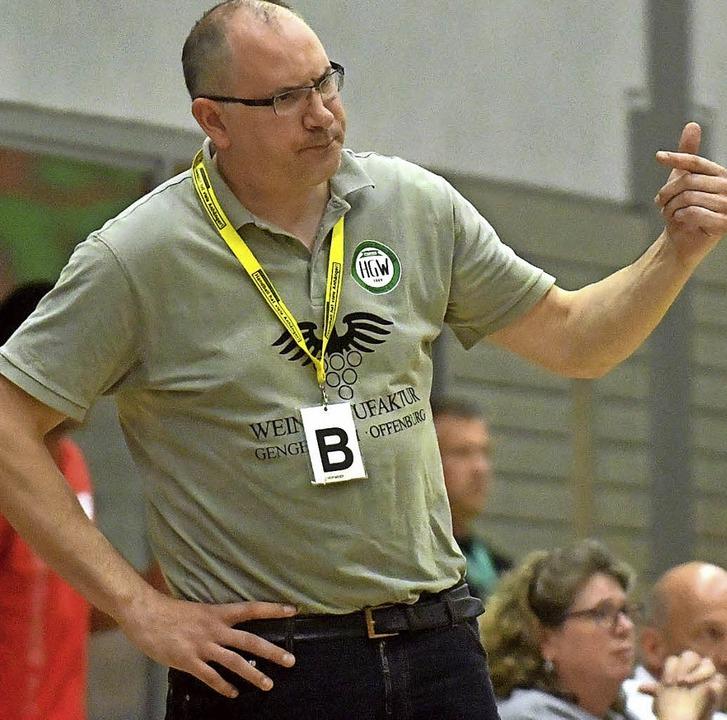 <BZ-FotoAnlauf>HGW Hofweier:</BZ-FotoA... Michael Bohn zeigte sich frustriert.     Foto:  W.Künstle