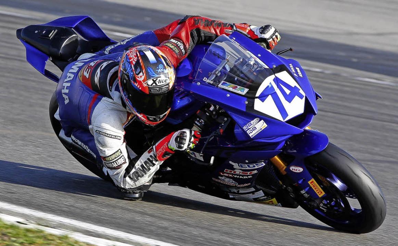 Daniel Rubin  fuhr in Hockenheim beim Motorradfinale zur Vizemeisterschaft.     Foto: FotoS: Hermann Rüger