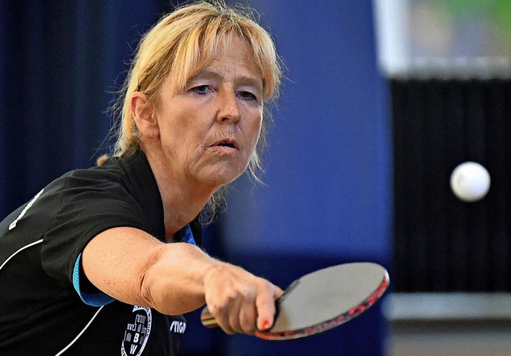 An ihr lag es nicht: Christine Puchtle...-Weiß gegen Nollingen drei Punkte bei.  | Foto: achim keller