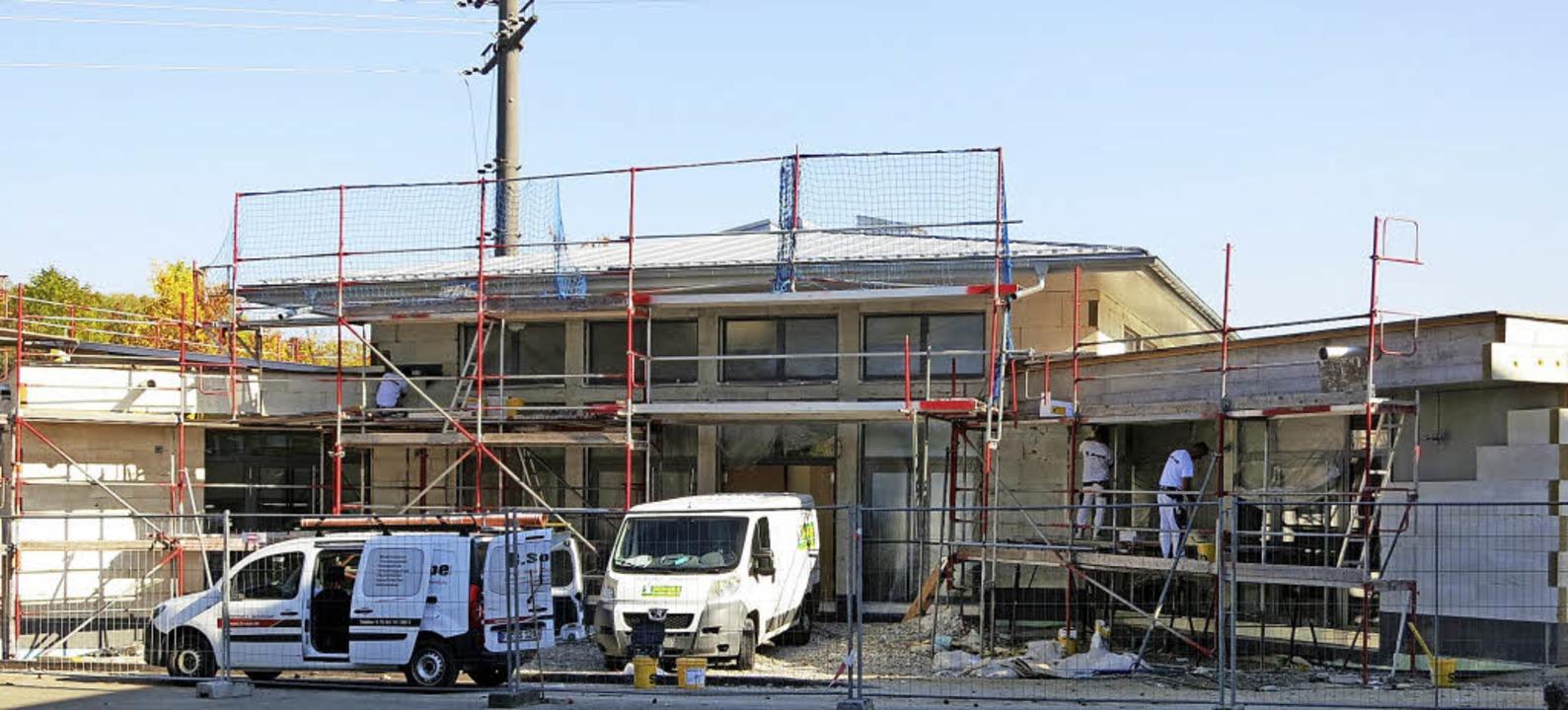 Bauarbeiten an neuer Mensa Hebelschule Schliengen  | Foto: Michael Behrendt