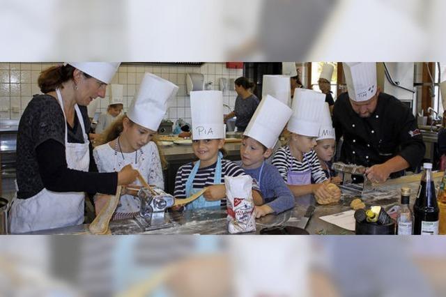 Ringsheimer Kinder kochen mit Tim Santo