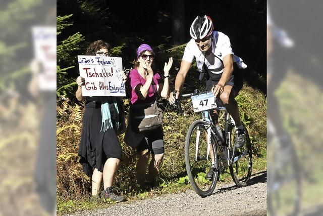 Ganz schön flott ging's beim Kandel Bike Cup auf den Berg hinauf