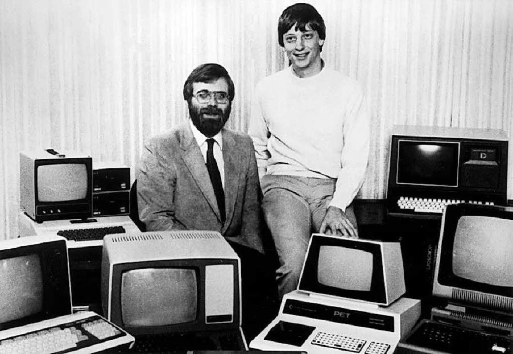 Paul Allen und Bill Gates, aufgenommen im Jahr 1981.  | Foto: dpa