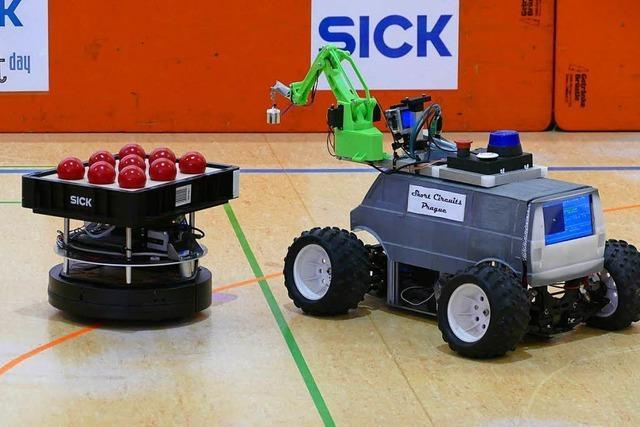 Beim Sick Robot Day traten Teams aus drei Ländern mit mobilen Robotern an