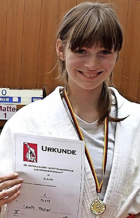 Judo-Landesmeisterin: Leonie Fischer vom TV Neustadt  | Foto: müller