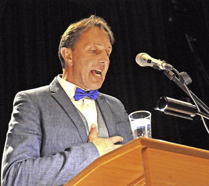 Kandidatenvorstellung Bürgermeisterwahl Schopfheim 2018 Josef Haberstroh  | Foto: Nicolai Kapitz