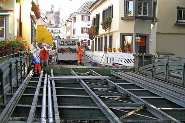 Neuer Belag für Staufener Neumagenbrücke