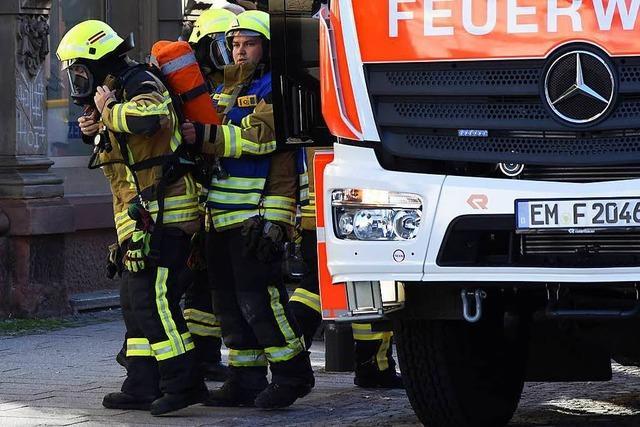 Küchenbrand in Emmendingen - Mehrfamilienhaus unbewohnbar