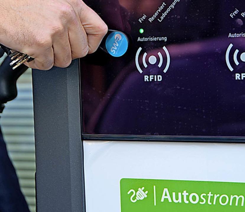 Ein Kundenchip ist der Schlüssel.  | Foto: Gerhard Walser