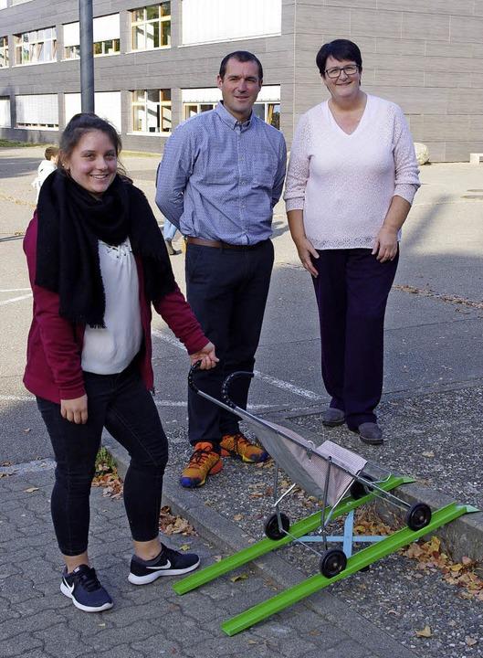 Jasmin Bretmacher, Sven Erschig und An... Bretmachers ausgezeichnete Rampe vor.    Foto: Annika Sindlinger