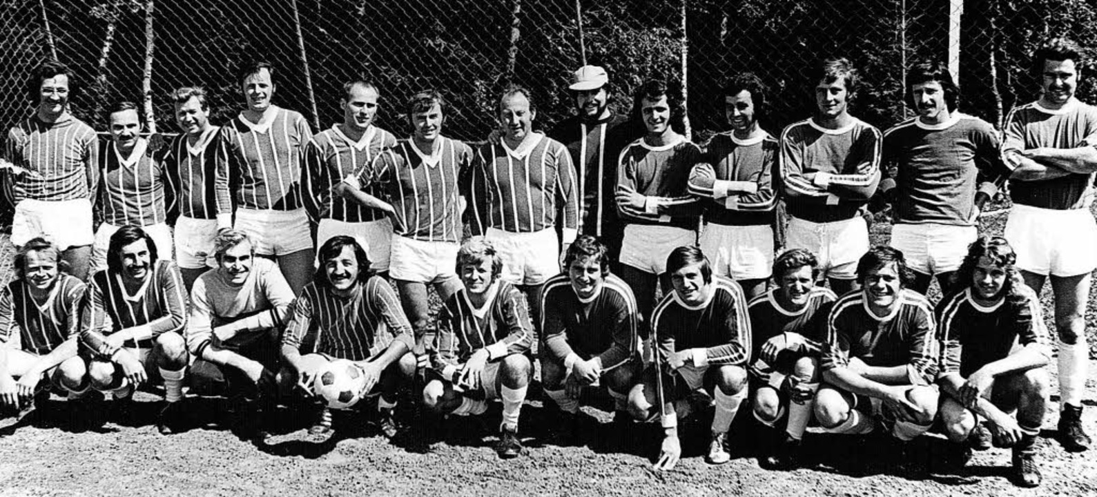 Bei der 25-Jahr-Feier 1973 standen sic...t, Ernst Walter und Reinhard Lickert.   | Foto: Repro: Dieter Maurer