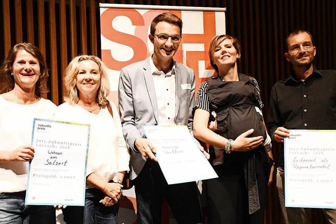 Die Preisträger des Zukunftstags: Kirs... Tippelt-Rieth und Stephan Hundertmark  | Foto: Barbara Ruda