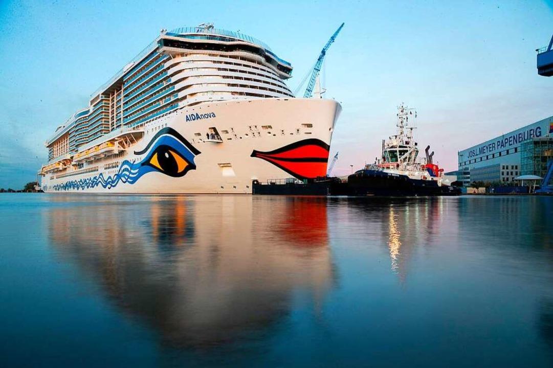 Ein Schwarzwälder Unternehmen entwicke...für Schiffe. Oben ein Kreuzfahrtriese.    Foto: dpa