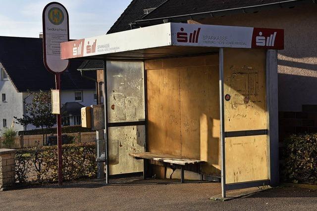 Bushaltestelle wird erneuert