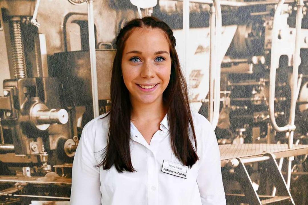 Valentina macht eine Ausbildung zur Medienkauffrau.  | Foto: BZ
