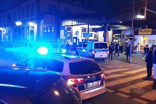 Bombenalarm legt Offenburger Bahnhof kurzzeitig lahm