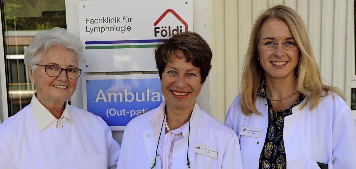 Professorin Dr. Etelka Földi (links) u...ymphologie in Hinterzarten tätig ist.   | Foto: Dieter Maurer