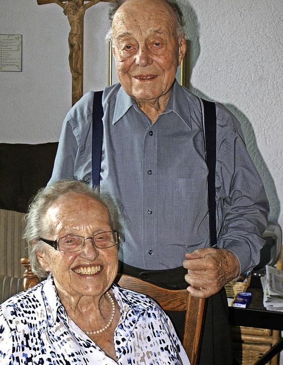 Feiern eiserne Hochzeit: Aloisia und Ulrich Schmidt    Foto: Werner Probst