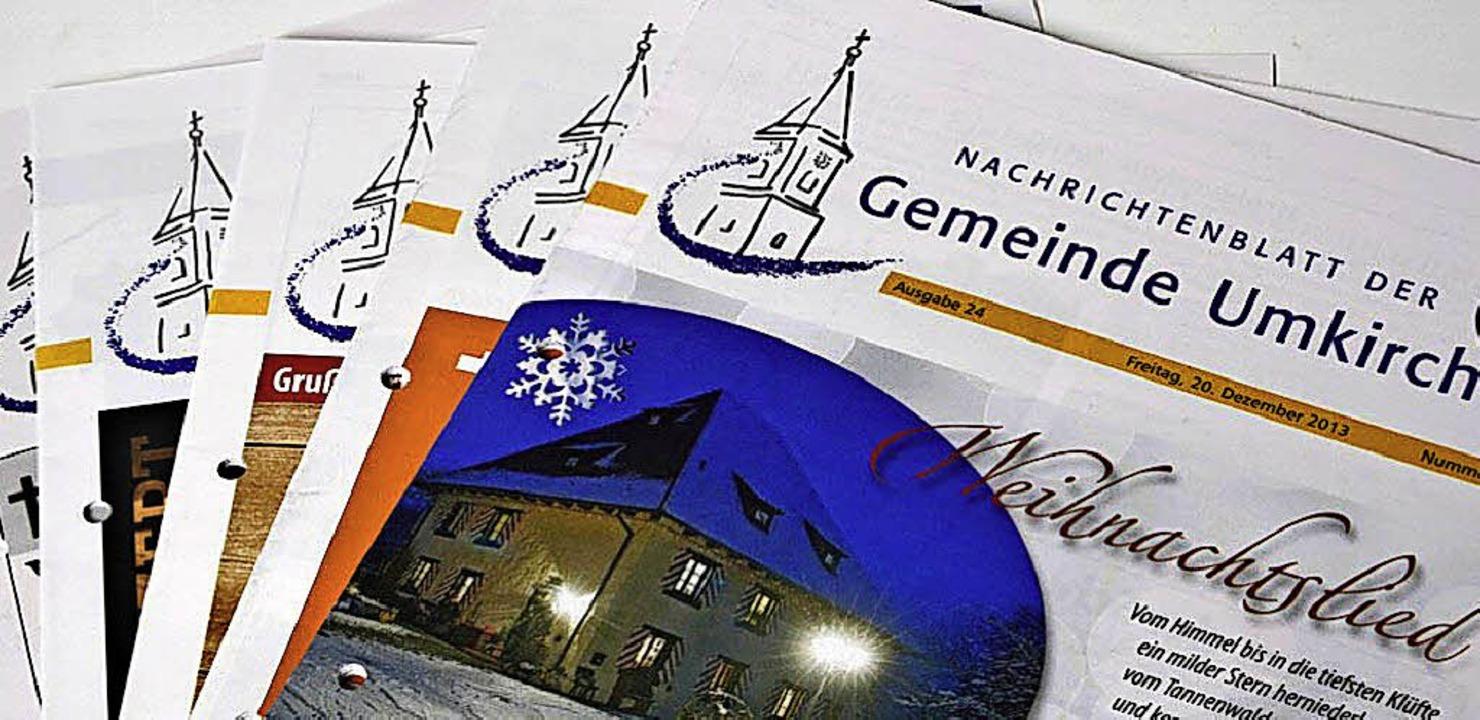 Halbjährlich erscheinen künftig Beiträ...tionen im Umkircher Nachrichtenblatt.   | Foto: Julius Steckmeister