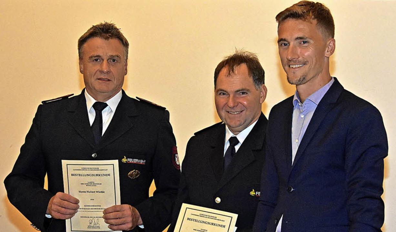 Hubert Wiehle (links) wurde von  Rapha... Stellvertreter ist Michael Strecker.     Foto: Steinhart