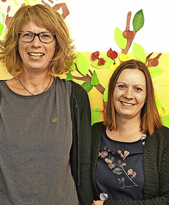 Die neue Vereinsvorsitzende  Angelika ...) und Kassiererin Stefanie Gerspacher   | Foto: berger