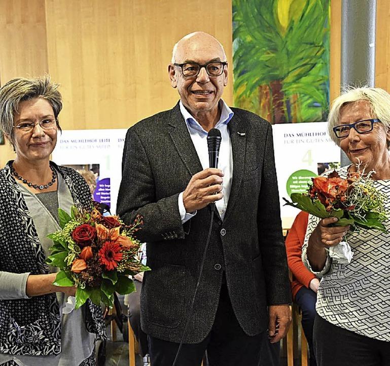 Geschäftsführer Wolfram Uhl dankte Wor...rit Schmidt-Dreher für ihr Engagement.  | Foto: Robert Bergmann