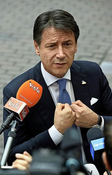 """Der Ministerpräsident bin ich"": Giuseppe Conti     Foto: AFP"