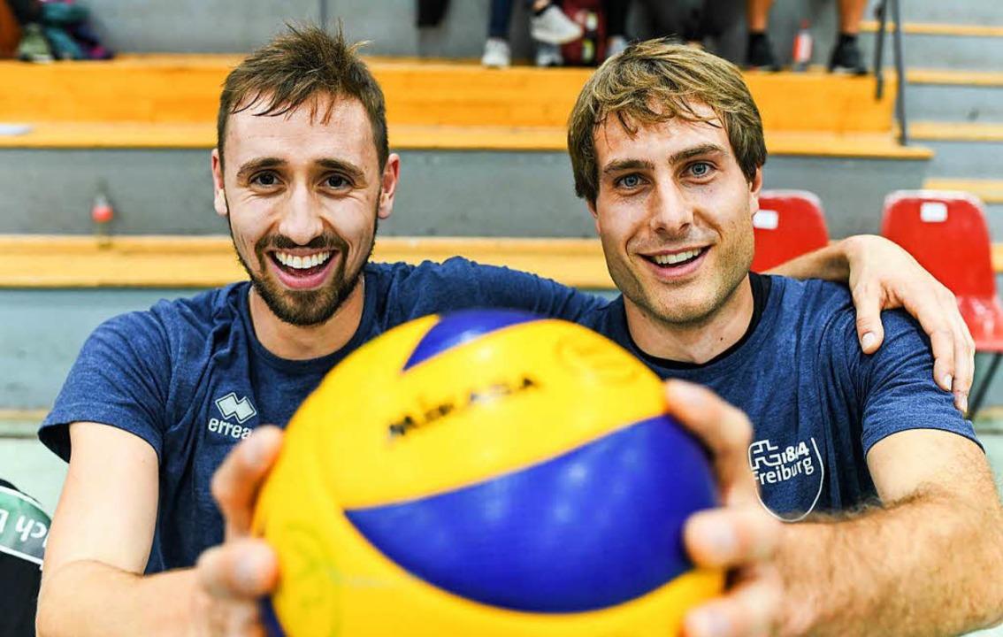Tobias Nolte (links) und Manuel Beck  ...den Sprung aus der Zweiten geschafft.   | Foto: Seeger