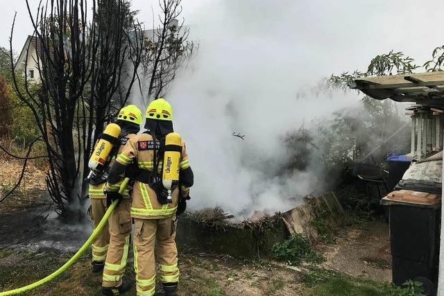 Vegetationsbrand in Heitersheim