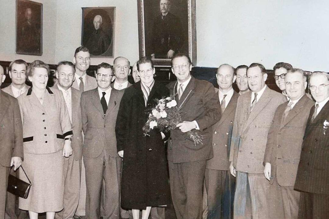 70 Jahre, drei Bürgermeister: Auf dem ...Bürgermeister von  1948 bis Ende 1978.  | Foto: Stadtarchiv