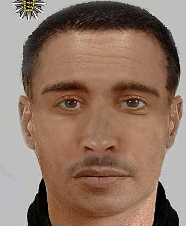 Mit einem Phantombild sucht die Polize...iner Tiefgarage angegriffen zu haben.   | Foto: Polizei