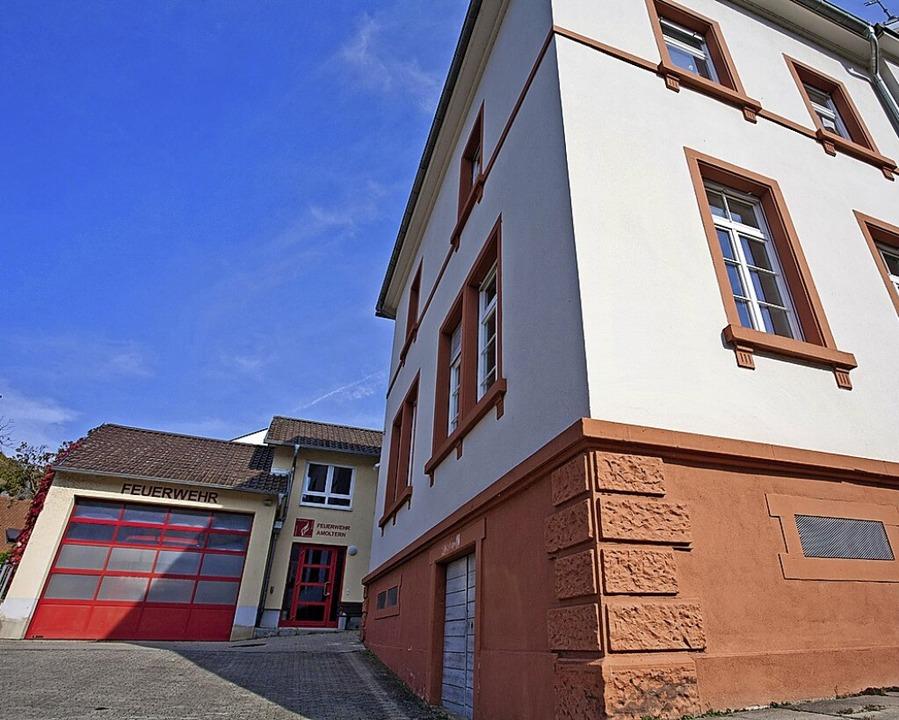 Station 5: Das Feuerwehrhaus in Amoltern  | Foto: Martin Wendel