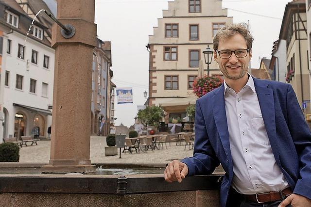 Stadtrundgang durch Endingen mit Bürgermeisterkandidat Andreas Schmidt
