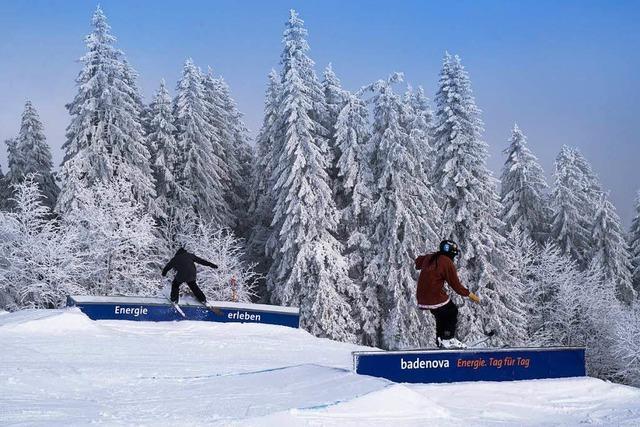 Der Snowpark auf dem Feldberg schließt