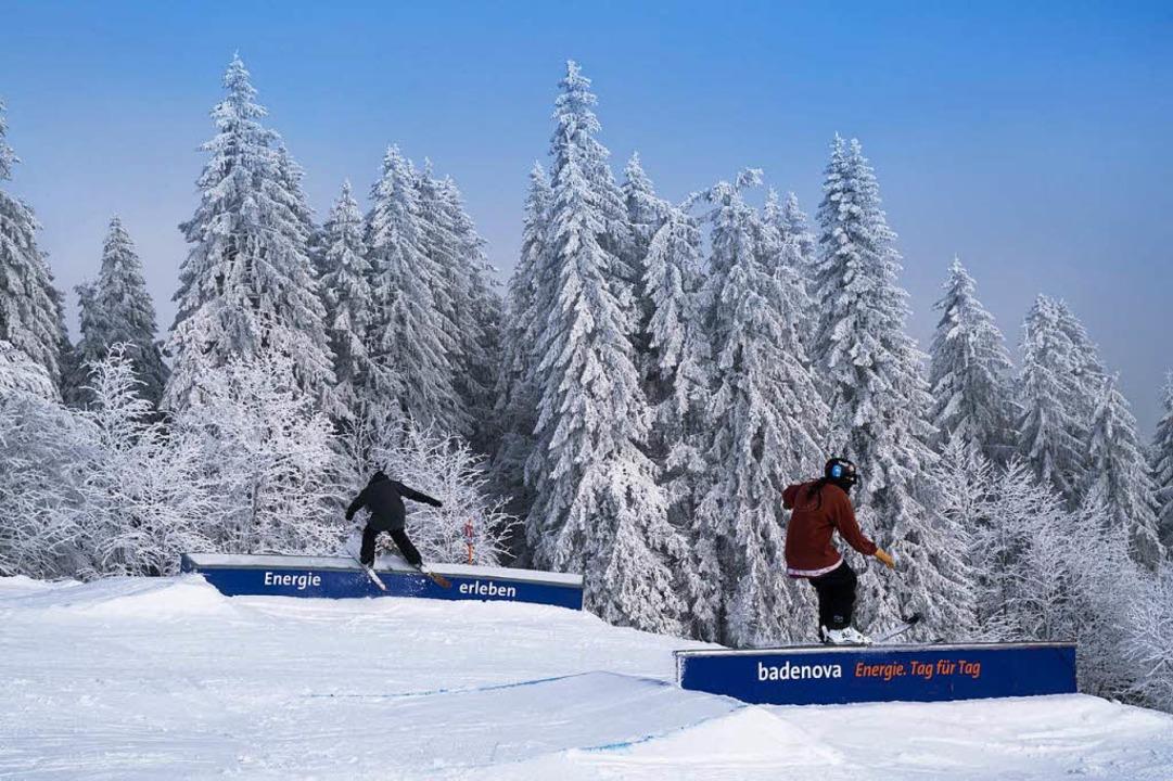 Den Badenova-Snowpark am Seebuck wird ...aben des Liftverbunds derzeit geprüft.  | Foto: Baschi Bender (badenova)