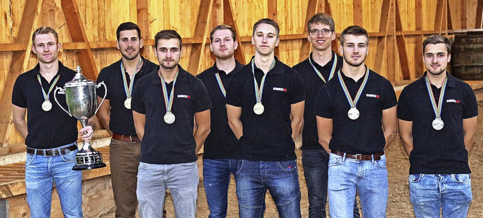 Die erfolgreichen WM-Teilnehmer vom Ta...alentin Fehrenbach, Michael Schindler.  | Foto: Fotos: Karin Heiss