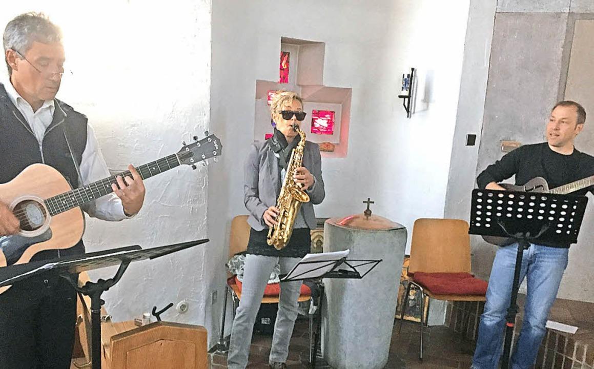 Den Blues gekriegt: Pfarrer Kai Thierb...es-Gottesdienst in der Christuskirche.  | Foto: Vera Winter