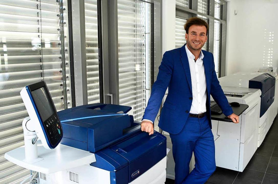 Andreas Lapp kümmert sich sowohl um di... effizienteren Umgang mit Dokumenten.   | Foto: Thomas Kunz