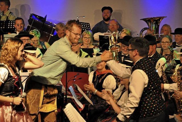 Musikkapelle Siensbach und die Musiekvereinigung Wieringerwaard in Waldkirch