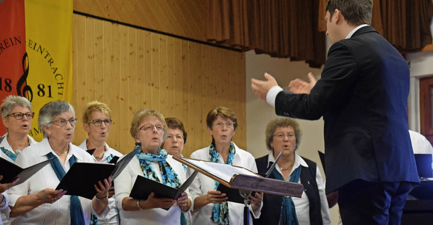 Die Chorvereinigung Freiamt umrahmte d...en mit dem Gesangverein aus Teningen.   | Foto: Helena Kiefer