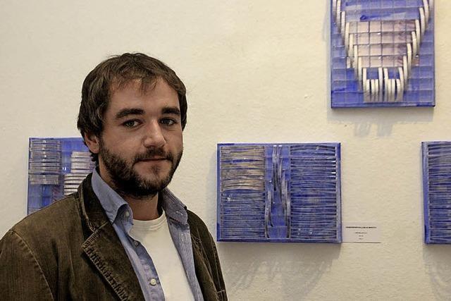 Mit Benjamin Hodapp stellt das jungste Mitglied des Vereins L'Art pour Lahr aus