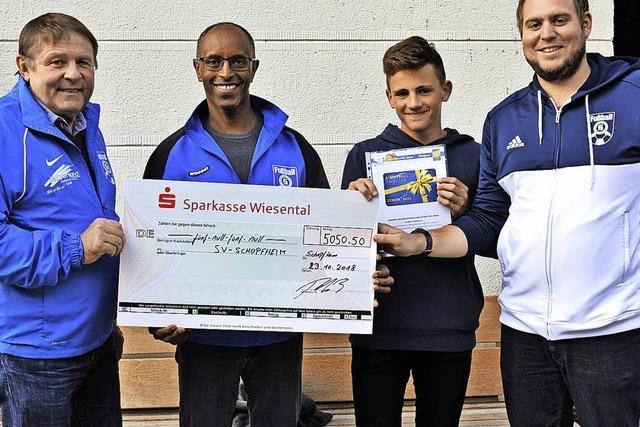 5050 Euro fürs Sportheim