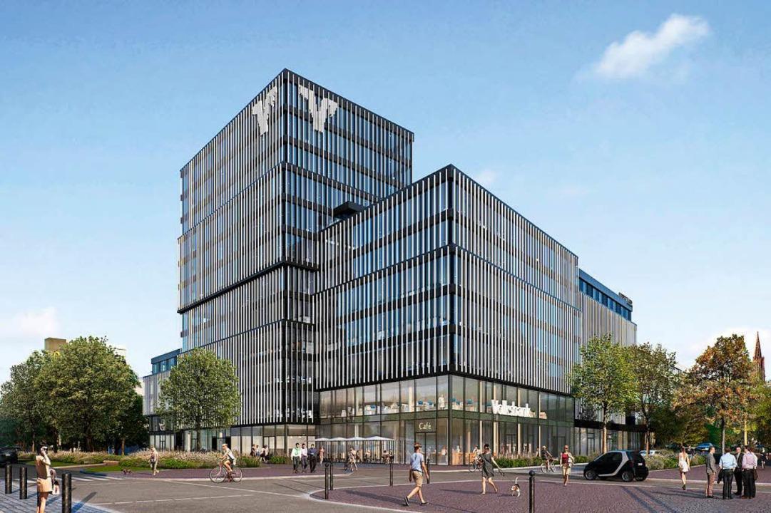 So soll der Neubau aussehen.  | Foto: Volksbank