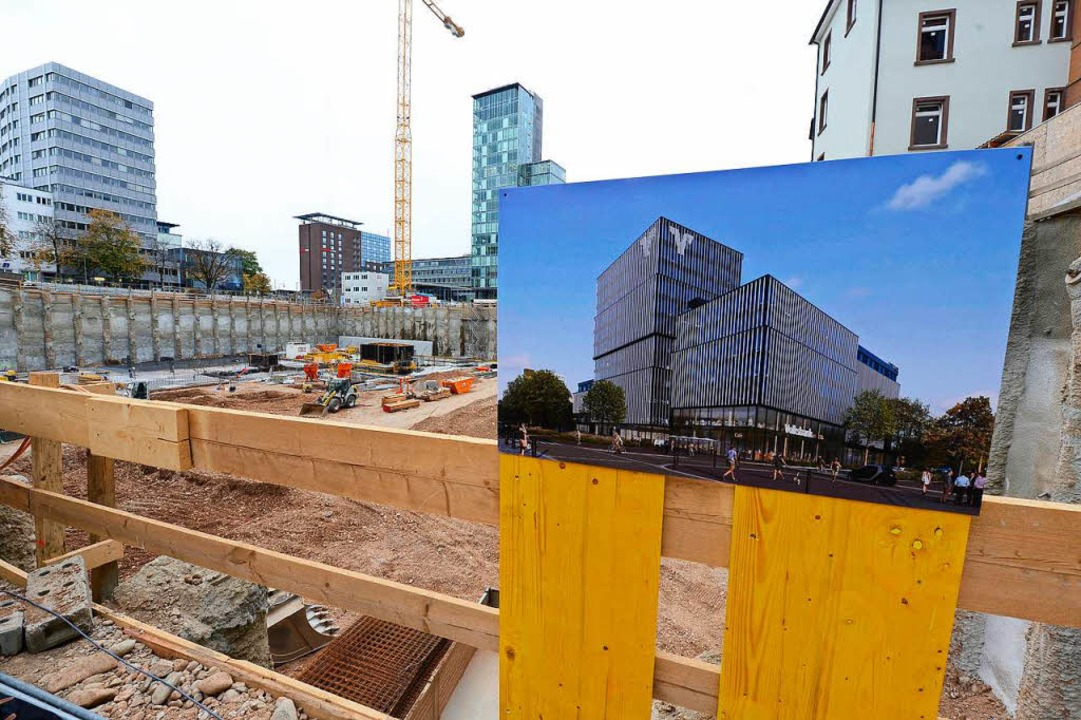 An der Baugruppe: ein Bild des Neubaus.  | Foto: Ingo Schneider
